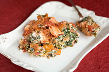 Turkey lasagne with butternut squash and spinach